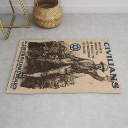 Vintage poster - National Jewish Welfare Board Rug