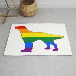 Rainbow English Setter Rug