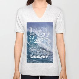 Satisfied Ocean Unisex V-Neck