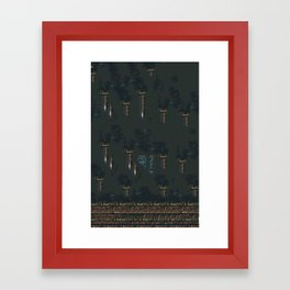 Above The Wall Framed Art Print
