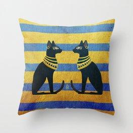 Ancient Egypt -Cat Throw Pillow