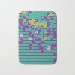 Abstract 8 Bit Art Bath Mat