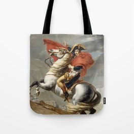 Napoleon Crossing the Alps Tote Bag