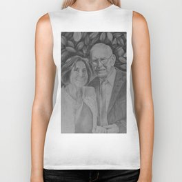 Wedding couple Biker Tank
