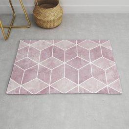 Geometric Art, Pink, Marble Prints, Art for Walls Rug