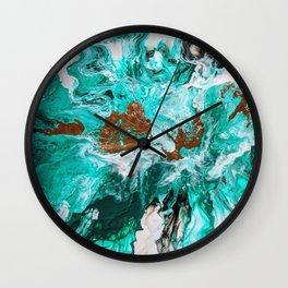 Viridian Splashes Wall Clock