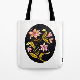Lily Bouquet Watercolor — Lillies Watercolor Painting — Lily Flower Design Tote Bag