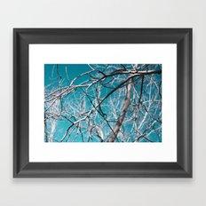 white wood Framed Art Print