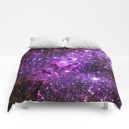 Purple Galaxy Eagle Nebula Comforters