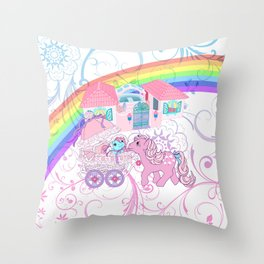 g1 my little pony buggy at paradise estate ornamental Throw Pillow