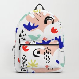 Colorful Land - Shapes Pattern Backpack