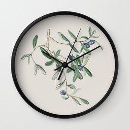 Olea Europaea - Black Olive Wall Clock
