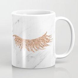 Rose gold marble lash envy Coffee Mug