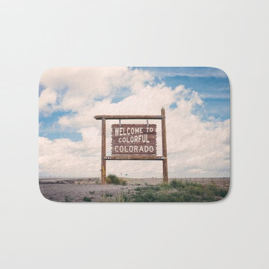 Welcome to Colorful Colorado Bath Mat