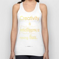 creativity Tank Tops featuring Creativity by Cecilie