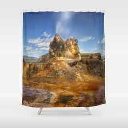 Fly Geyser - Nevada Shower Curtain