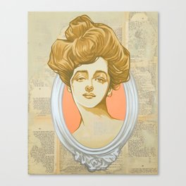 Gibson Girl Pink Canvas Print