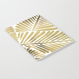 Tropical Banana Leaves – Gold Palette Notebook