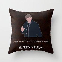 Supernatural - Dean Winchester Throw Pillow