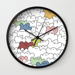 Friendly Halloween Ghosts Wall Clock