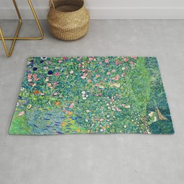 Gustav Klimt Summer Garden  Rug
