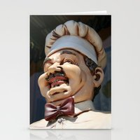 chef Stationery Cards featuring CHEF by Andrea Jean Clausen - andreajeanco