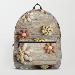 Dried fruits arranged forming flowers (4) Backpack