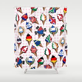 Ice cream flags Shower Curtain