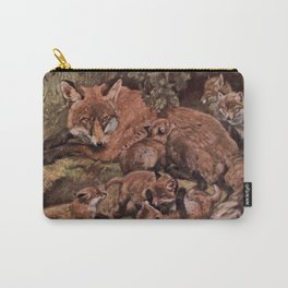 Vintage Fox and Cuba Painting (1909) Carry-All Pouch