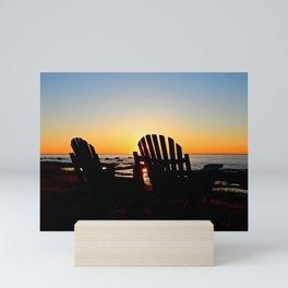 Dream Seats at Sunset Mini Art Print