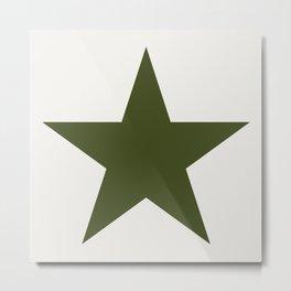 Vintage U.S. Military Star Metal Print