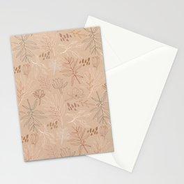 Desert Leaf Pattern Stationery Cards