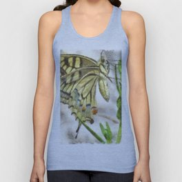 Butterfly Watercolor Unisex Tank Top