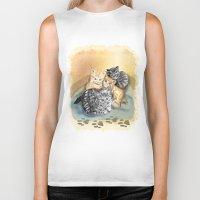 kittens Biker Tanks featuring Kittens by Michelle Behar