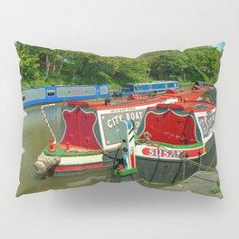 Narrowboats at Devizes Pillow Sham