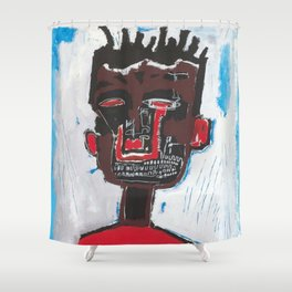Red Boy after Basquiat Shower Curtain