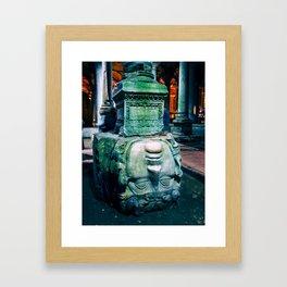 Medusa's Head // Istanbul, Turkey Framed Art Print