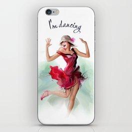 dancing ballerina3 iPhone Skin