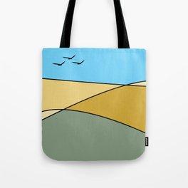 Minimal Landscape With Birds #birds #landscape  Tote Bag
