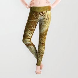 Golden Ostrich Leggings