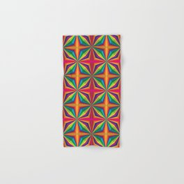 Psychedelic Squares Hand & Bath Towel