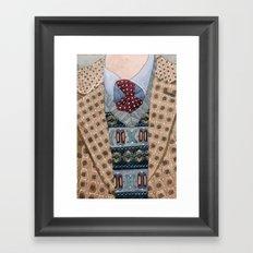 Pattern Dapperness Framed Art Print