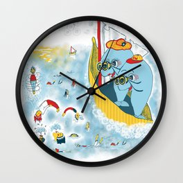 Look, honey!...the humans are migrating again!!! Wall Clock