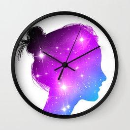 Star Sister / Color 1 Wall Clock