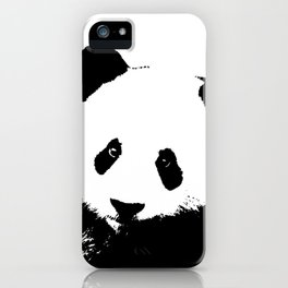 Giant Panda in Black & White iPhone Case
