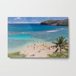 Hanauma Bay, Oahu, Hawaii Metal Print