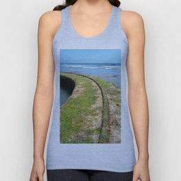 Old Tracks By The Ocean Unisex Tank Top