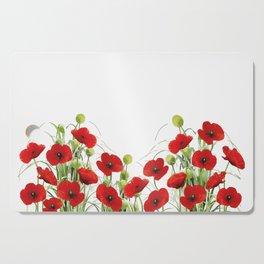 Poppy Mohn Flower Field Cutting Board