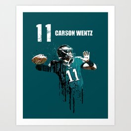 Carson Wentz 11 /green Art Print