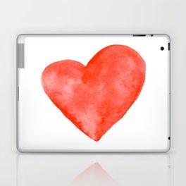 Red Watercolor Heart Laptop & iPad Skin